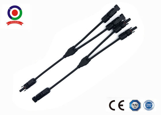 Y Type Male & Female PV Solar Panel Branch Connector